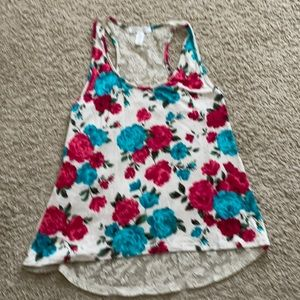 Cute floral lace Tank Top